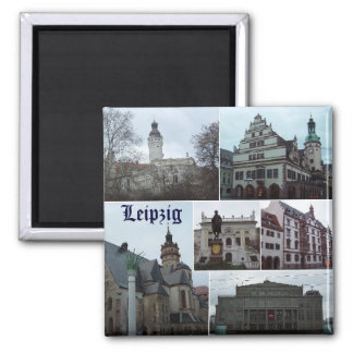 Leipzig Square Magnet