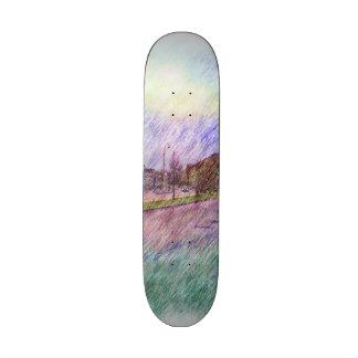 Leirvik photo drawing custom skate board