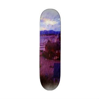 Leirvik photo painting custom skateboard