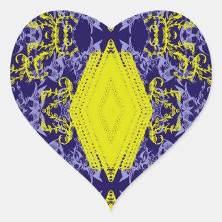 leisures creative heart sticker