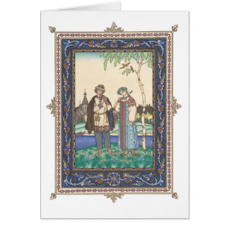 Lel & Snegurochka Russian Folktale Card