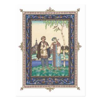 Lel & Snegurochka Russian Folktale Postcard