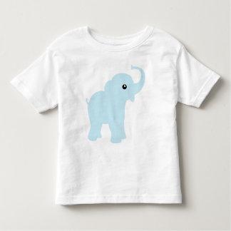 L'éléphant mignon de bleus layette, enfants en bas tee shirts