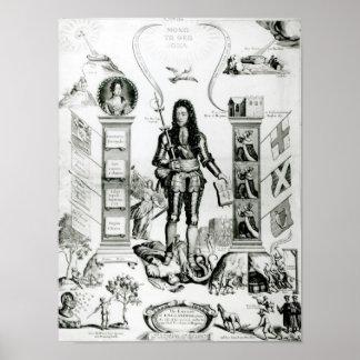 L'emblème de l'Angleterre, octobre 1690 Affiche