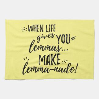 Lemma (Lemonade) Mathematics Linguistics Humor Towel