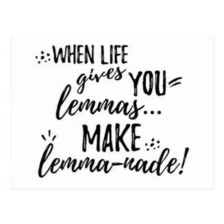 Lemmas (Lemonade) Mathematics Linguistics Humor Postcard