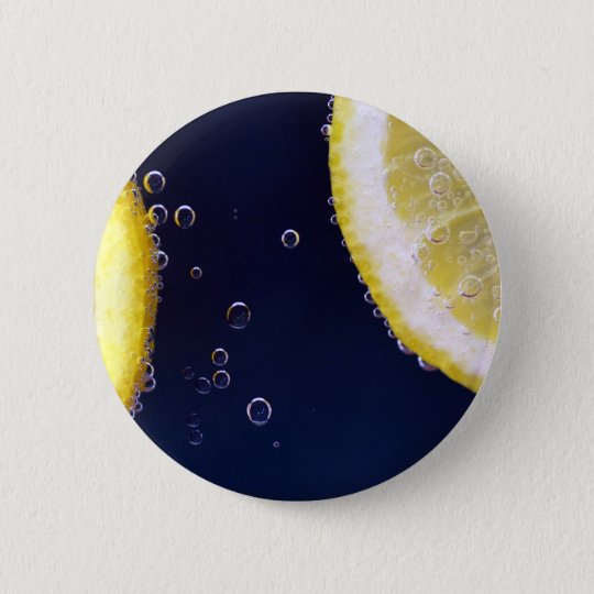 Lemon 2 Inch Round Button