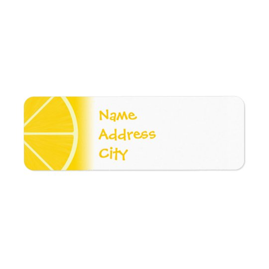 Lemon Address Labels
