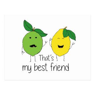 Lemon and Lime Best Friends Postcard