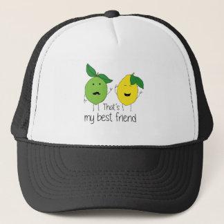Lemon and Lime Best Friends Trucker Hat