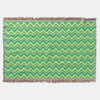 lemon and lime chevron zigzag blanket throw blanket