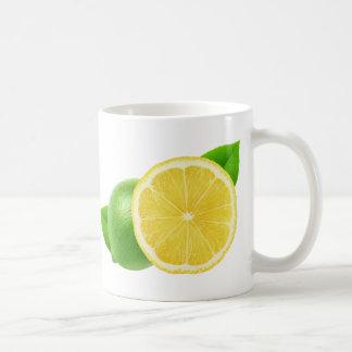 Lemon and lime coffee mug