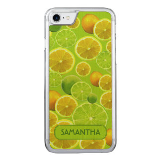 LEMON AND LIME PERSONALIZE CARVED iPhone 8/7 CASE