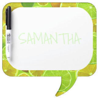 LEMON AND LIME PERSONALIZE ... DRY ERASE BOARD