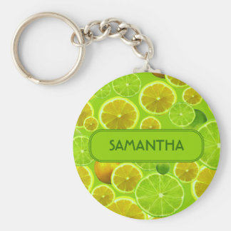 LEMON AND LIME PERSONALIZE KEYCHAIN