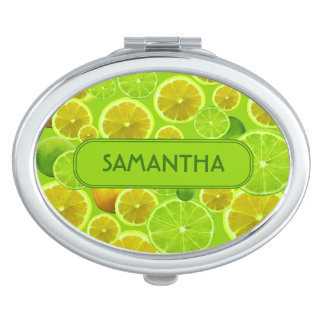 LEMON AND LIME PERSONALIZE MIRROR FOR MAKEUP