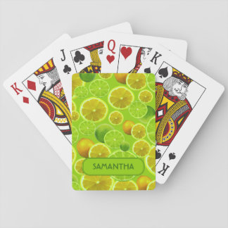 LEMON AND LIME PERSONALIZE .. PLAYING CARDS
