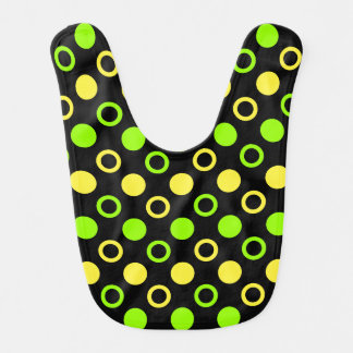 Lemon and Lime Rings and Polka Dots by STaylor Bib