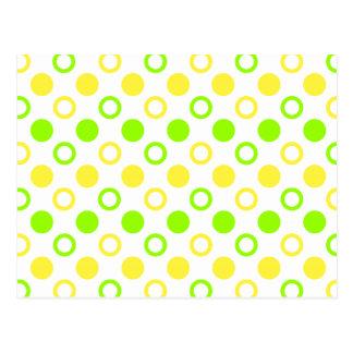 Lemon And Lime Rings And Polka Dots Postcard