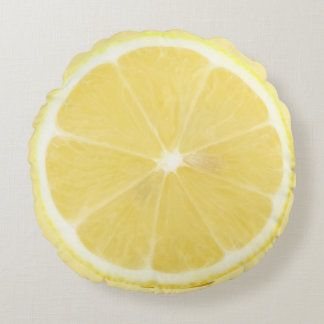 Lemon and Lime Round Foodie Pillow