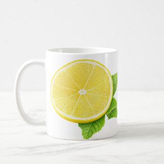 Lemon and mint coffee mug