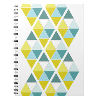 Lemon and Teal Triangles Notebook