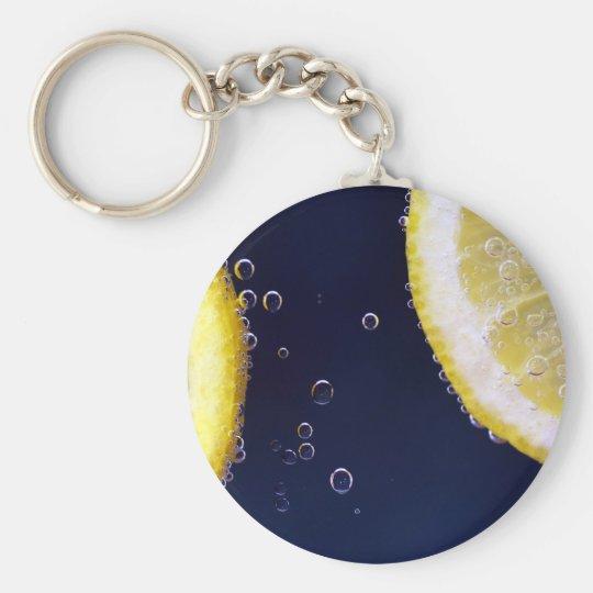 Lemon Basic Round Button Keychain