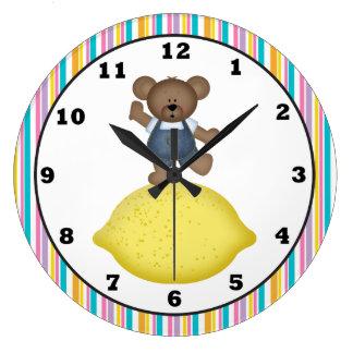 Lemon Bear Kitchen Clock