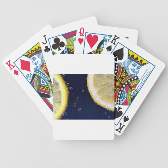 Lemon Bicycle Playing Cards