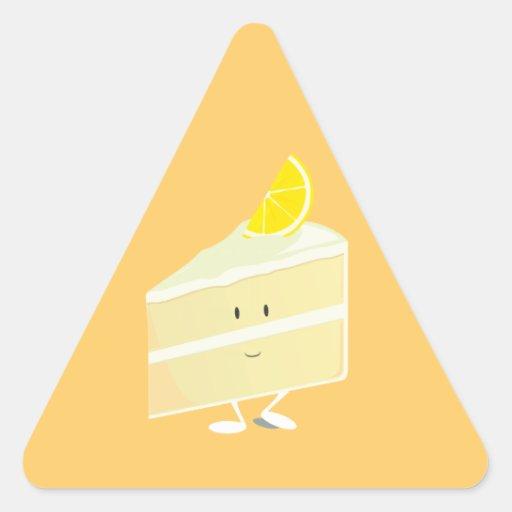 Lemon cake slice character triangle stickers