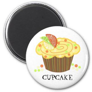 Lemon Candy Cupcake 2 Inch Round Magnet