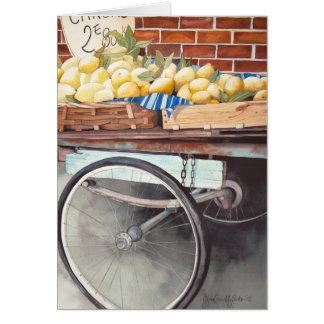 Lemon Cart Blank Card