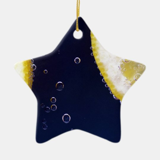 Lemon Ceramic Star Ornament