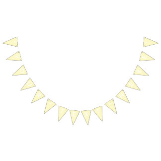 Lemon Chiffon Solid Color Customize It Bunting Flags