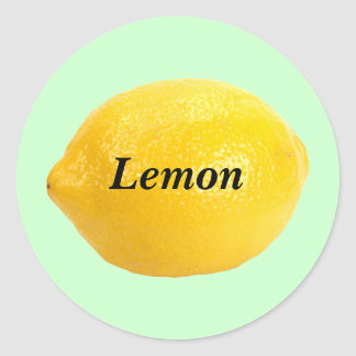 Lemon Classic Round Sticker