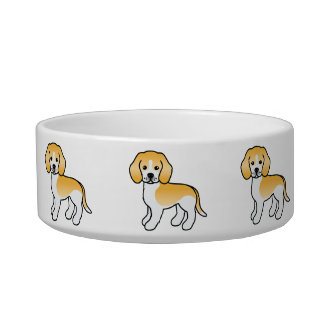 Lemon Coat Cartoon Beagle Breed Dogs Bowl