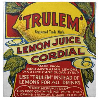 Lemon commercial napkin