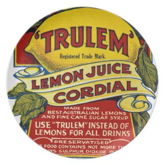 Lemon commercial plate