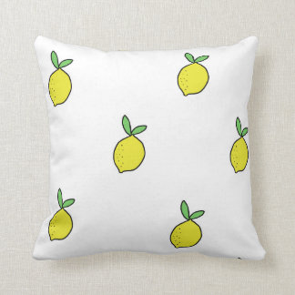 Lemon Doodle Throw Pillow | Pillow designs