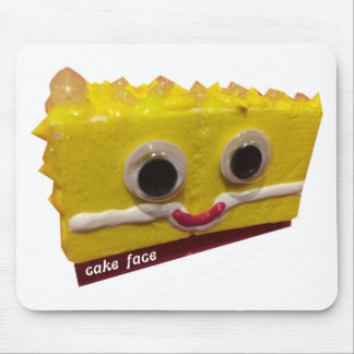 lemon drop cake face with logo mouse pad
