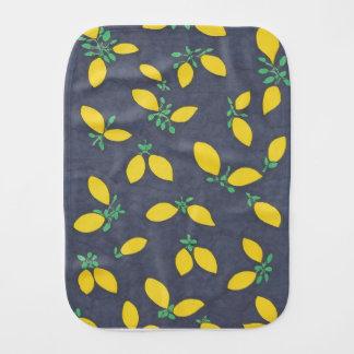 Lemon Drops Food Art Pattern Baby Burp Cloth