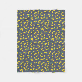 Lemon Drops Food Art Pattern Fleece Blanket