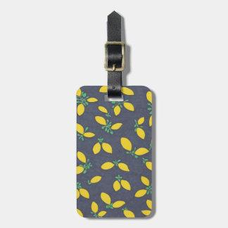 Lemon Drops Food Art Pattern Luggage Tag