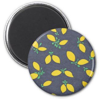 Lemon Drops Food Art Pattern Magnet