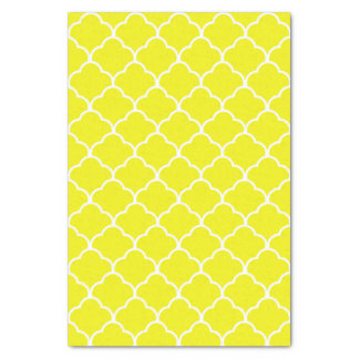 Lemon Elegant Moroccan Design Tissue Paper