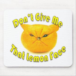 Lemon Face Mouse Pad