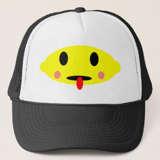 Lemon face trucker hat
