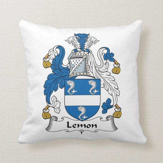 Lemon Family Crest Throw Pillow
