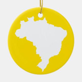 Lemon Festive Brazil at Emporio Moffa Round Ceramic Ornament