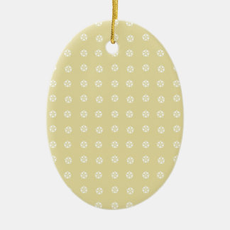 Lemon Flower Pattern Ceramic Ornament